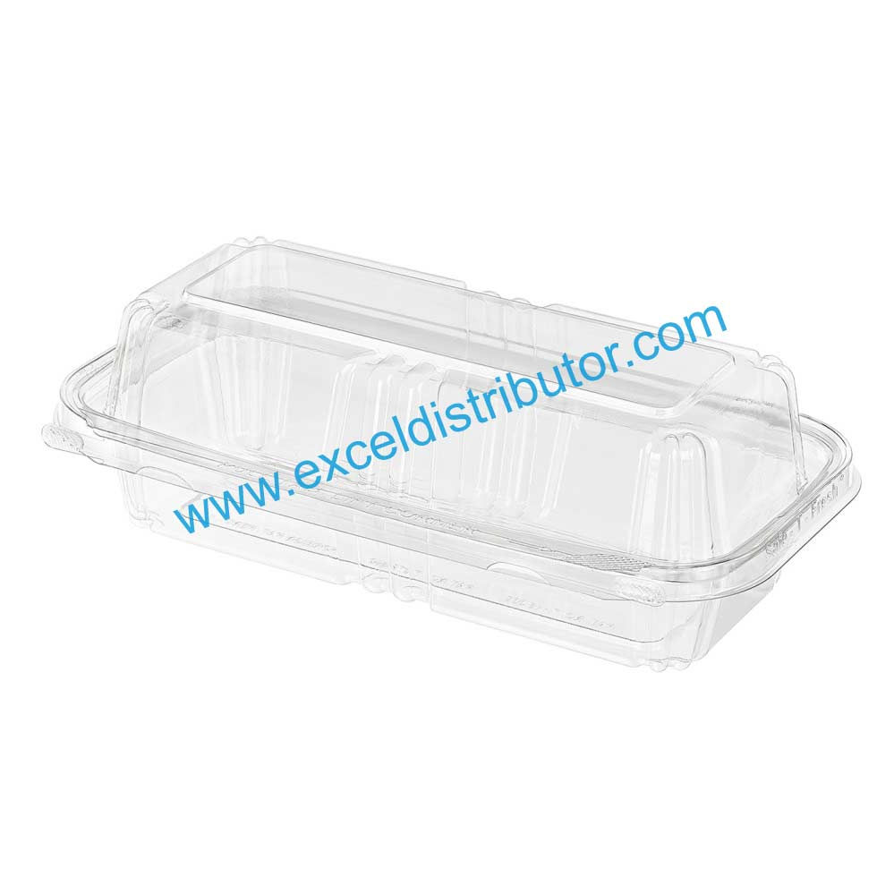 INLINE TS202Tamper Evident & Tamper Resistant Clamshell Rectangular  Footprint Single Compartment 150/CS